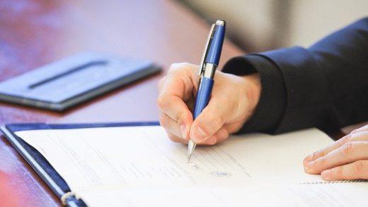 signature contrat caution